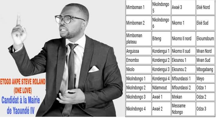 L'artiste-Rappeur camerounais ONE LOVE veut être Maire