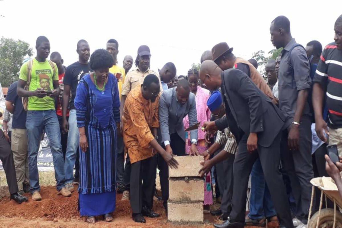 Première pierre du monument en hommage à Thomas Sankara